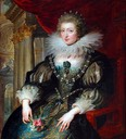 1621-1625 Anne of Spain/Austria by Peter Paul Rubens (Musée du Louvre - Paris, France)