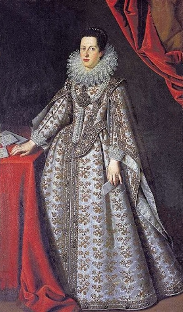 1621 Caterina de' Medici, Duchess of Mantua by Justus Sustermans (Galleria degli Uffizi - Firenze, Toscana, Italy) Wm X2