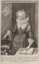 1623 Frances, Duchess of Richmond and Lennox engraved by Willem van de Passe
