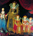 1623 Kirsten Munk with her children. Leonora is the smallest daughter (copy)