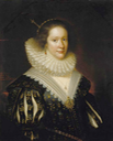 1626 Lady Mary Erskine, Countess Marischal, by George Jamesone (National Gallery of Scotland)