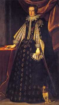 1630 Claudia de' Medici, Duchess of Urbino and Archduchess of Austria by Justus Sustermans (Galleria degli Uffizi - Firenze, Toscana Italy)
