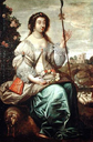 1630 Julie d'Angennes, Duchesse de Montausier as a Shepherdess by Claude Duret (location unknown to gogm)