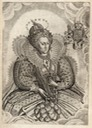 1630 Queen Elizabeth from Camden's Historie engraved by Francis Delaram after an original by Nicholas Hilliard  (USA Library of Congress - Washington, DC, USA) Wm