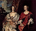 1630s (late) Ladies Anne Dalkeith, later Countess of Morton, and Anne Kirke by Sir Anthonis van Dyck (Hermitage)
