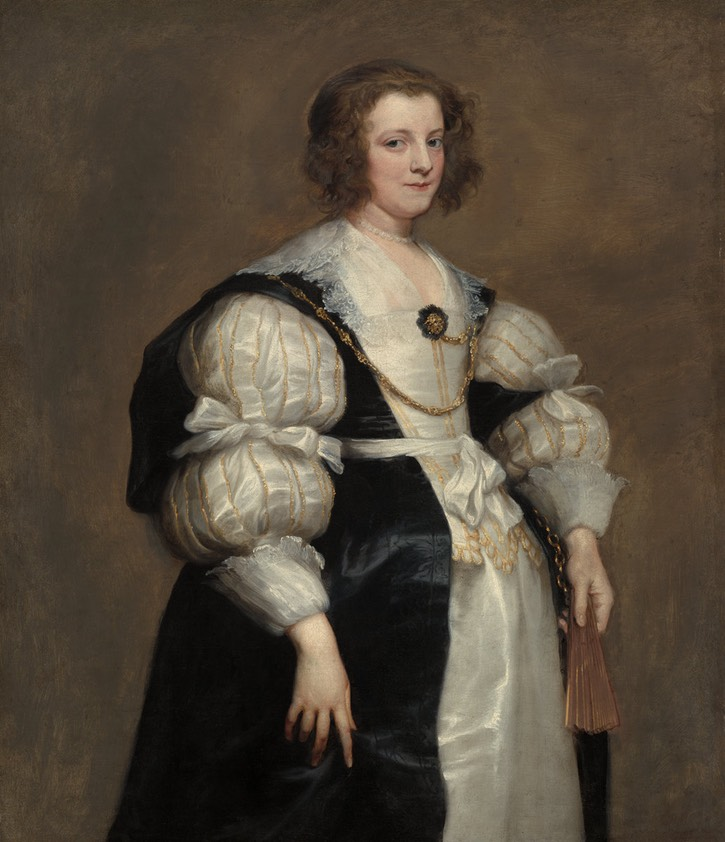 1630s Polyxena Spinola Guzmán de Laganés by Sir Anthonis van Dyck (location ?) From fistory-of-fashion.tumblr.com/post/160555904934/1630s-anthony-van-dyck-portrait-of-dona-polyxena