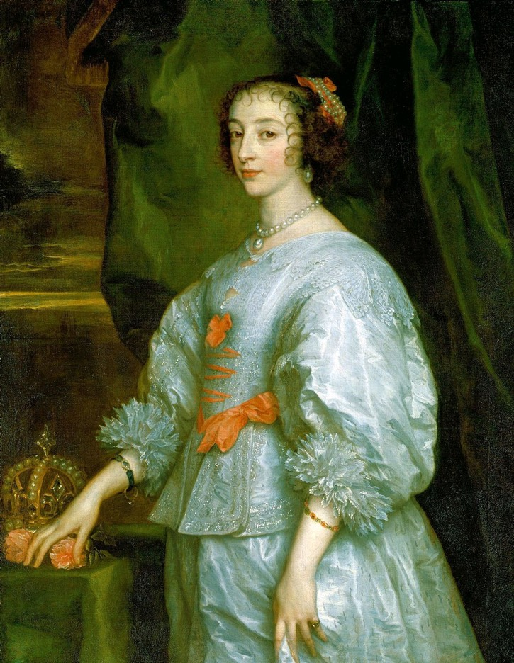 1632 Henrietta Maria by Sir Anthonis van Dyck (Royal Collection) REPLACEMENT