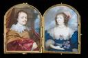1632 Sir Kenelm and Lady Venetia Digby by Peter Oliver after Sir Anthonis van Dyck (Lewis Walpole Library, Yale University - New Haven Connecticut)