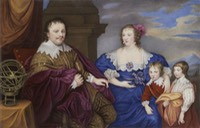 1632 Sir Kenelm and Lady Venetia Digby by or (probably) after Sir Anthonis van Dyck from the Madame Guillotine blog of 10 December 2010 X 1.5
