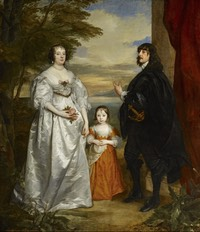1632 to 1641 James, Seventh Earl of Derby, His Lady and Child by Sir Anthonis van Dyck (Frick Collection - New York City, New York, USA) Wm