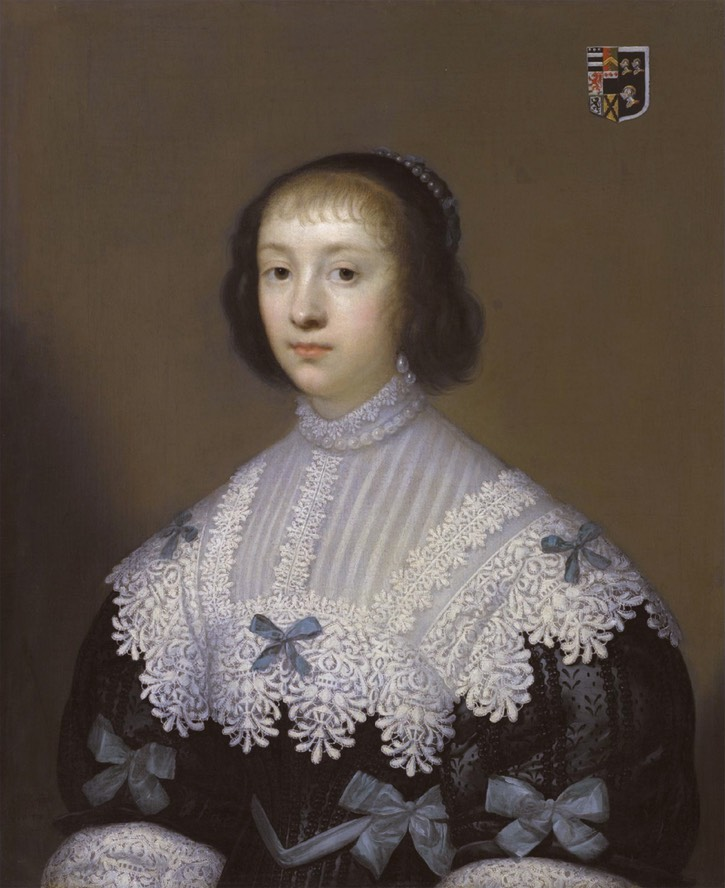 1633 Margaret Hungerford (1596-1648) by Cornelisus Johnson (auctioned by Sotheby's) Wm