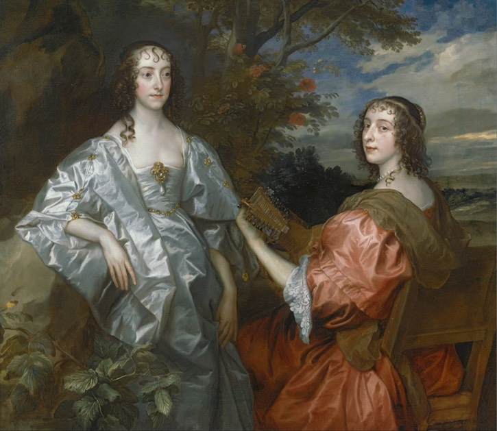 1636-1640 Katherine, Countess of Chesterfield, and Lucy, Countess of Huntingdon by Sir Anthonis van Dyck (Yale Center for British Art - New Haven, Connecticut USA) Google Art Project via Wm