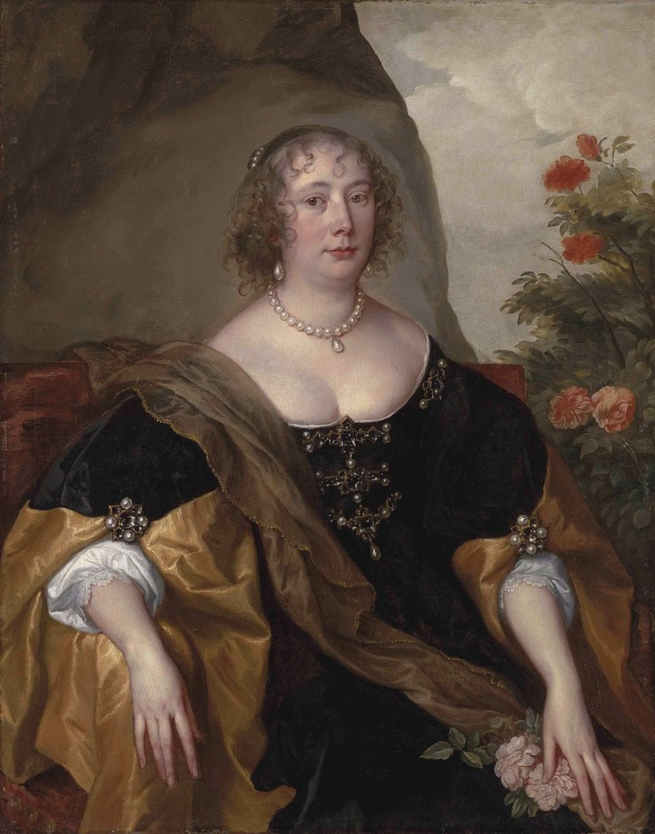 1638 Beatrice, Countess of Oxford by Sir Anthonis van Dyck (auctioned by Christie's) Wm