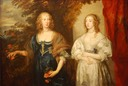 1638 Frances, Countess of Portland and Katherine, Dame d'Aubigny (l-r) by Sir Anthonis van Dyck (Pushkin Museum of Fine Arts - Moskva Russia)