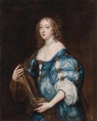 1638 Katherine, Dame d'Aubigny by Sir Anthonis van Dyck (auctioned by Christie's in 1999)