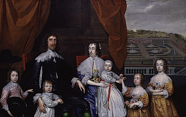 1639(?) Capel Family by Cornelius Johnson (National Portrait Gallery, London)