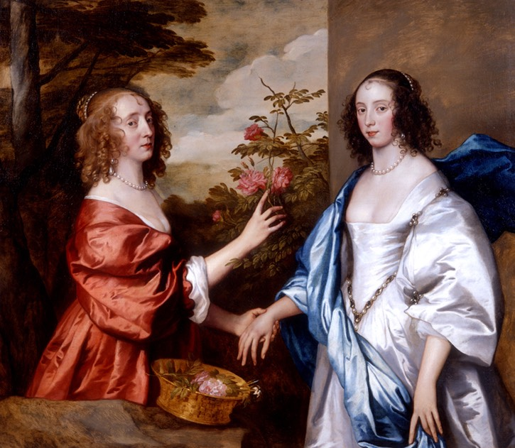 ca. 1640 Essex Cheeke, Countess of Manchester (d.1658) and Anne Lady Rich (d. before 1658) by Sir Anthonis van Dyck and his studio (private collection)