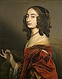 1650 Louise Hollandine, Princess Palatine, second daughter of Elizabeth of Bohemia, by Gerard van Honthorst (Ashdown House - Oxfordshire UK) Photo - Derrick E. Witty from nttreasurehunt.wordpress.com