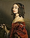 1650 Louise Hollandine, Princess Palatine, second daughter of Elizabeth of Bohemia, by Gerard van Honthorst (Ashdown House - Oxfordshire UK)
