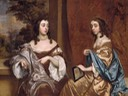 1650s Mary Capel (1630–1715), Later Duchess of Beaufort, and Her Sister Elizabeth (1633–1678), Countess of Carnarvon by Sir Peter Lely (Metropolitan Museum of Art - New York City, New York USA)