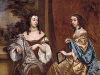 1650s Mary Capel (1630–1715), Later Duchess of Beaufort, and Her Sister Elizabeth (1633–1678), Countess of Carnarvon by Sir Peter Lely (Metropolitan Museum of Art - New York City, New York USA) REPOST