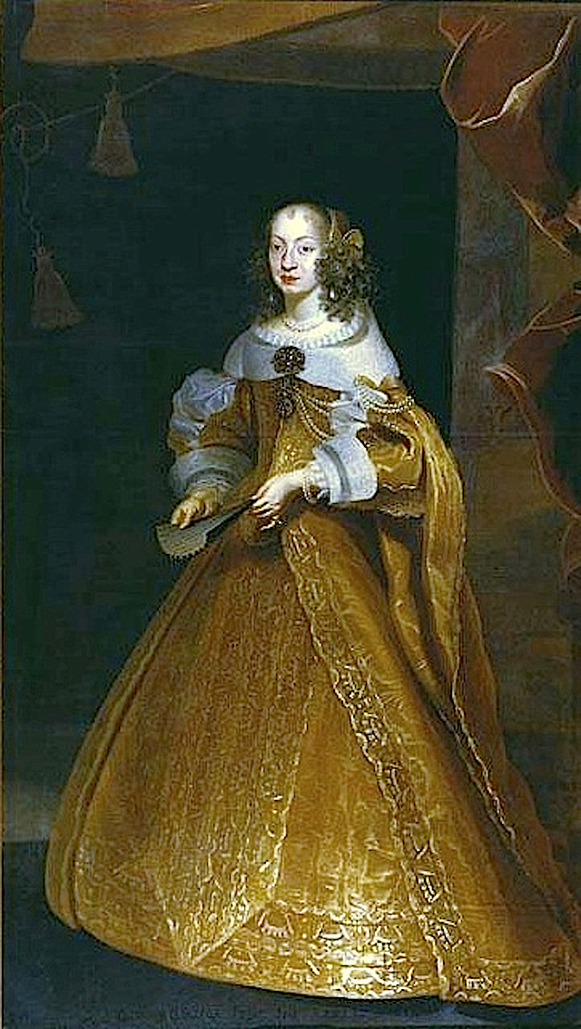 1650s Eleonora Gonzaga by Frans Luyckx (Nationalmuseum - Stockholm Sweden)