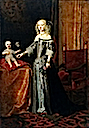 1654-1655 Elisabeth Amalie of Hesse-Darmstadt probably with her daughter Eleonor of the Palatinate by Johann Spilberg (Stadtmuseum Düsseldorf)