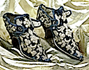 1660 Shoes probably worn by Lady Mary Stanhope (Northampton Museums)