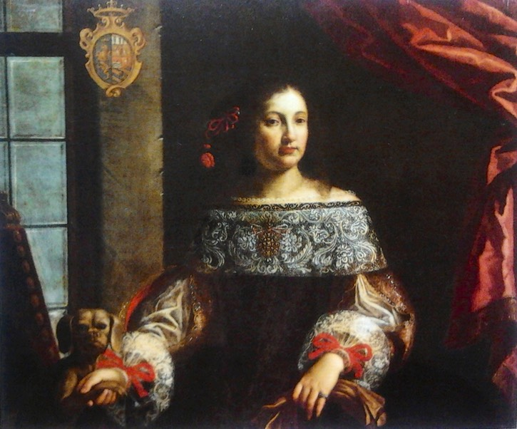 1660s Countess Simonetta Cavazzi della Somaglia by Pierfrancesco Cittadini (Porczyński Gallery - Warsawa, Poland) Wm filled in shadows increased exposure