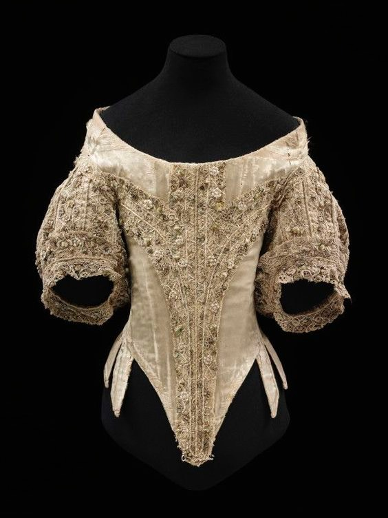 1660s English bodice (Victoria and Albert Museum - London, UK) From pinterest.com/alexandrawirgar/1600-clothing/.jpg