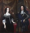 1660s (probably) Grand Duke Ferdinand II of Tuscany and his wife (Vittoria della Rovere) by Justus Sustermans (National Gallery - London UK)