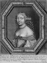 1663 Françoise Madeleine d'Orléans, daughter of Gaston of France and Marguerite of Lorraine by Baltazar Moncornet