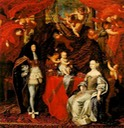 1666 Carlo Emanuele II and his wife Maria Giovanna of Savoy and their son Vittorio Amedeo by ? (location unknown to gogm)