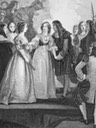 """1670"" King Charles II of England meeting his sister Duchess Henrietta of Orleans at Dover"