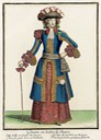 1670 Recueil des modes de la cour de France, 'Dame en Habit de Chasse' From pinterest.com:nataleto:history-of-fashion-1630-1719-years: size fixed