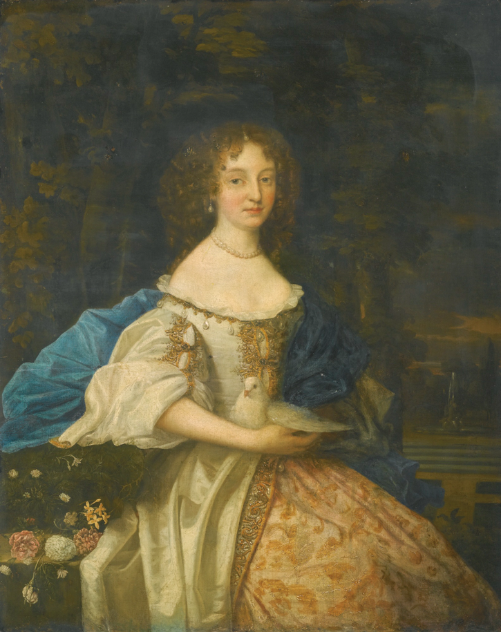 1672 Mary Elizabeth Browne, Lady Teynham who married Christopher Roper by John Michael Wright (auctioned by Sotheby's) From Sotheby's Web site size fixed at 52.9 cm high at 59.06 pixels/cm shadows