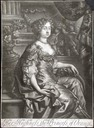 1677 Queen Mary of Great Britain while Princess of Orange print after Sir Peter Lely