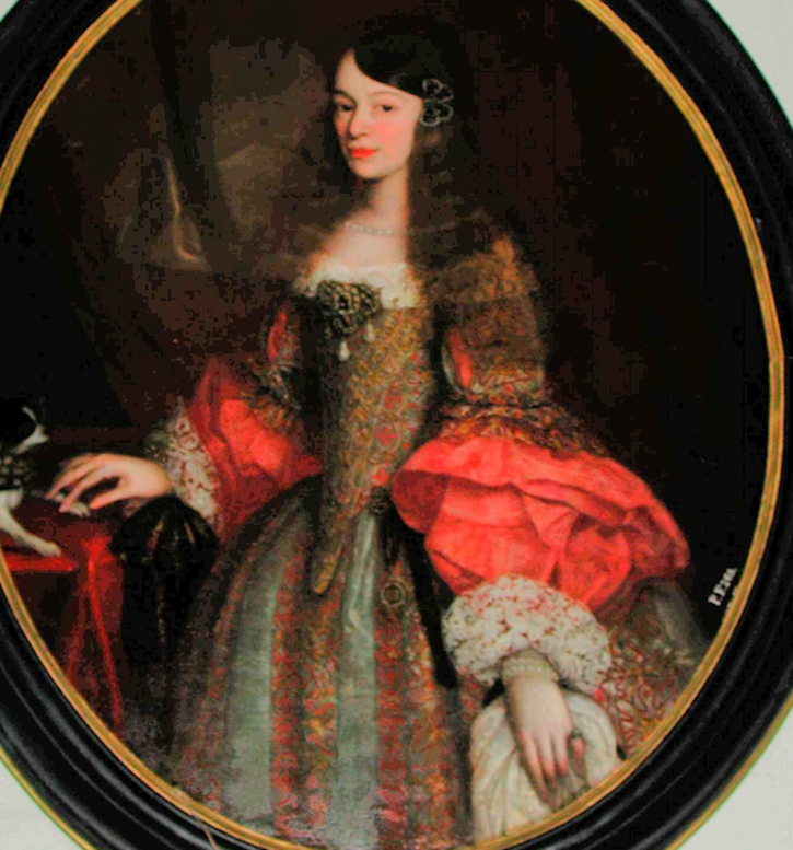 1682 (after) Maria Josepha von Harrach by ? (location ?) From pinterest.com/green_eyeds85/spanish-ladies-of-baroque/ reconstructed bottom half of skirt X 2