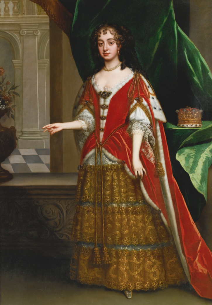 1685 Countess in robes at coronation of James II by Jacob Huysmans (auctioned by Sotheby's)