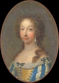 1685 Marie Anne Victoire, Dauphine of France by Jean Marie Ribou (location unknown to gogm) Wp