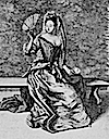 1686 French Lady dressed for warm weather print