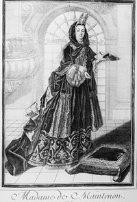 1690 Marquise de Maintenon dressed warmly