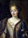 1690s Marie Anne de Bourbon, Princess of Conti by ? (location unknown to gogm) From jeannedepompadour.blogspot.com:2013:03:costume-from-1690-1735 fixed