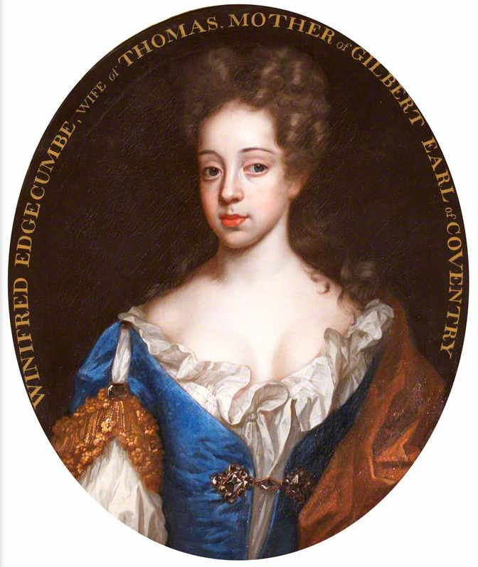 1691 Lady Anne Somerset (1673-1763), Viscountess Deerhurst, inscribed 'Winifred Edgcumbe, d. 1694, Lady Coventry') in style of or by Sir Godfrey Kneller (Antony House - Torpoint, Cornwall, UK) bbc.co