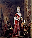 1697 Elizabeth Charlotte of the Palatinate, Duchess of Orléans by Jan Weenix (location unknown to gogm)