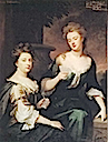 1702 Sarah Jennings and Barbara Villiers by Sir Godfrey Kneller (location unknown to gogm)