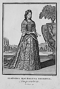 1703 Eleonora Magdalena Theresia von Pfalz, Holy Roman Empress by Christoph Weigel after Caspar Luyken
