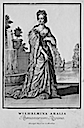 1703 Wilhelmina Amalia Romanorum Regina by Christoph Weigel after Caspar Luyken