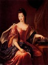 1710 (after) Marie Louise Élisabeth d'Orléans as the Duchess of Berry by Pierre Gobert (location unknown to gogm)