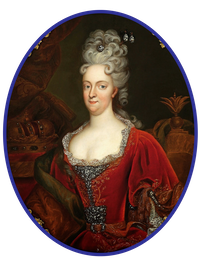 1710 Duquesa Wilhelmine Amalie von Braunschweig-Lüneburg-Kalenberg, by ? (location ?) From internationalportraitgallery .blogspot.com-2014 12 01 archive.html shadows